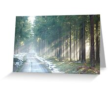 rays of white light Greeting Card