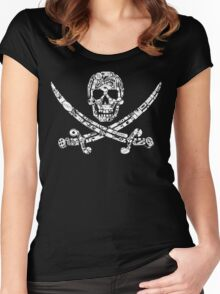 Pirate Service Announcement Women's Fitted Scoop T-Shirt