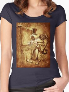 The Piano player Women's Fitted Scoop T-Shirt