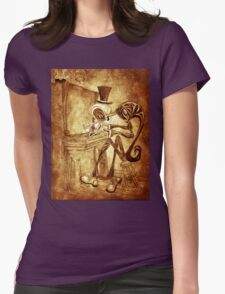 The Piano player Womens Fitted T-Shirt