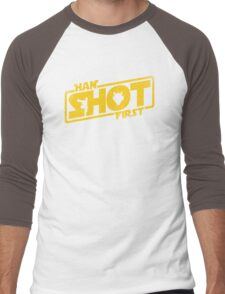 Han Shot First Men's Baseball ¾ T-Shirt