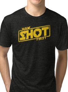Han Shot First Tri-blend T-Shirt
