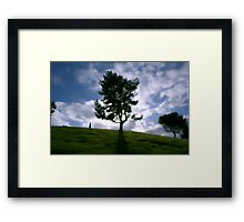 Rainy day clouds in Southern California Framed Print
