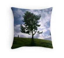 Rainy day clouds in Southern California Throw Pillow