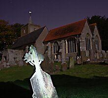 Lit Cross by Dave Godden