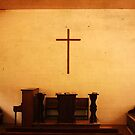 Cades Cove Church Pulpit Cross by Shane Jones
