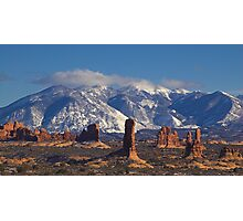 La Sal Mountains, Utah Photographic Print