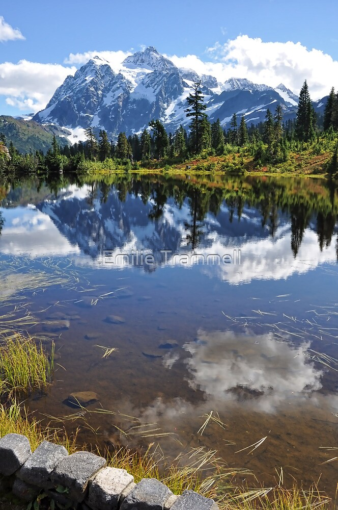 Mt. Shuksan Reflections in Picture Lake by Emilie Trammell