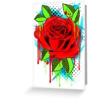 Water Color Rose Greeting Card