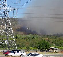 Bush fire in the hills 'Black Sunday' by BigAndRed