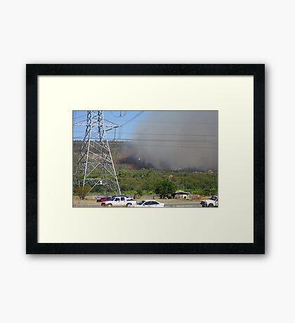 Bush fire in the hills 'Black Sunday' Framed Print