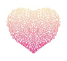 Pink Heart - Light White background by AnishaCreations