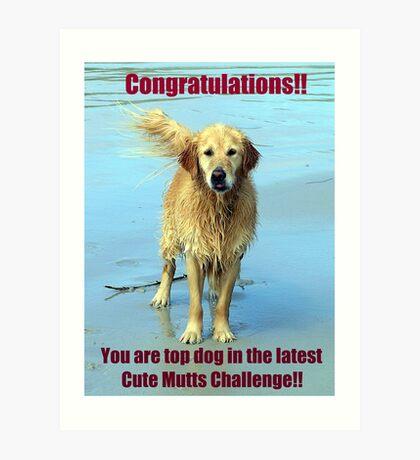 cute mutts challenge winner banner Art Print
