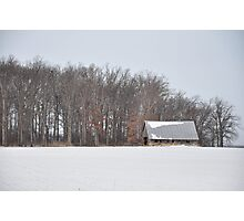 Wintry barn scene Photographic Print