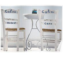 Santorini Table Poster