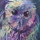 Watercolour: Wizard Owl by Marion Chapman