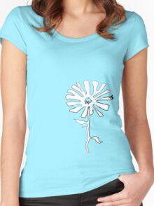 squiggle flower Women's Fitted Scoop T-Shirt