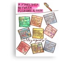 Pregnancy: Fineliner between Pleasure & Pain Metal Print