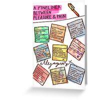 Pregnancy: Fineliner between Pleasure & Pain Greeting Card