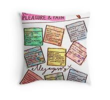 Pregnancy: Fineliner between Pleasure & Pain Throw Pillow