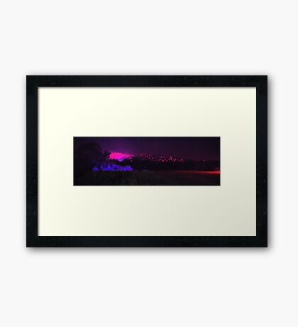 The hills are alive with the sound of sirens Framed Print