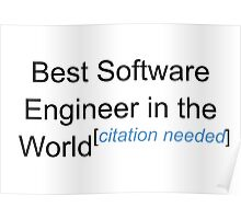 Best Software Engineer in the World - Citation Needed! Poster