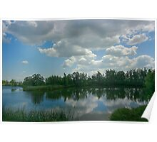Canadian Farm pond Poster