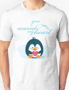 "PENGUIN ""you warm my heart"" T-Shirt"