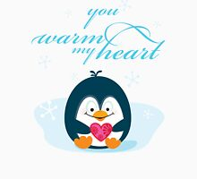 "PENGUIN ""you warm my heart"" Unisex T-Shirt"
