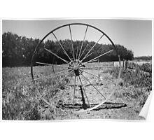 Abandoned Wheel Poster