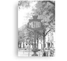 Le Metro Canvas Print