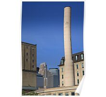 Minneapolis Smokestack Poster