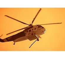 Fire Helicopter IR Photographic Print