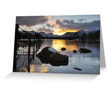 Lakedistrict Sunset Greeting Card