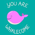 Whale, thank you! - Pink Version by AnishaCreations