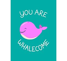 Whale, thank you! - Pink Version Photographic Print