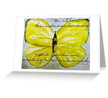 Yellow Buttercup Butterfly with Quote overlay Greeting Card