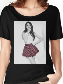 Fiestar - Linzy - KPOP Idol - Selective Black/White Women's Relaxed Fit T-Shirt