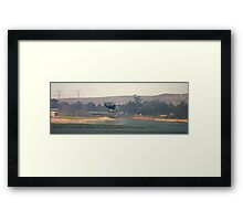 Water bomber filling up Framed Print