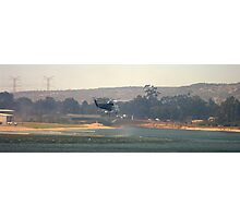 Water bomber filling up Photographic Print