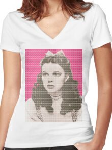 Over the Rainbow Pink Women's Fitted V-Neck T-Shirt