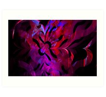 Rippled Waves of Reds & Purples Art Print