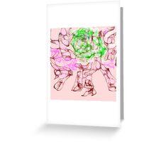 rose scribbler Greeting Card