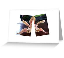 split orchid Greeting Card