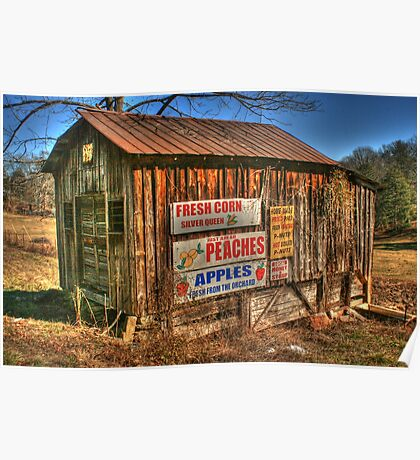 Old Store going into Dahlonega, Georgia Poster