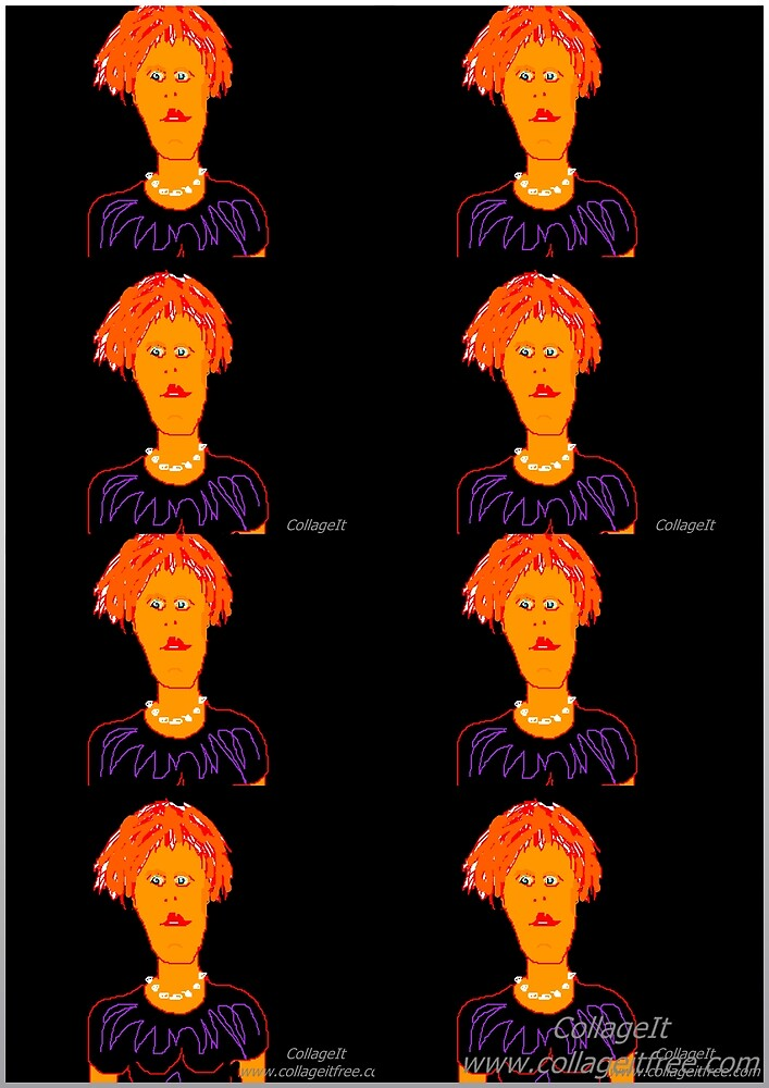 Identical octuplets by Richard  Tuvey
