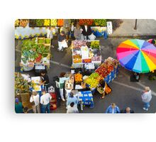 """Colorful Market"" - farmers' market Canvas Print"