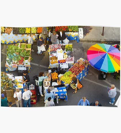 """""""Colorful Market"""" - farmers' market Poster"""