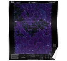 USGS Topo Map Oregon Calf Ranch Mountain 279237 1996 24000 Inverted Poster