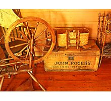 Pioneer Parlour - Many A Yarn Spun Here Photographic Print